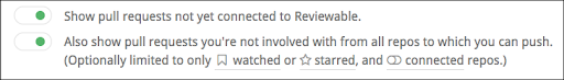 reviewable reviews list toggles